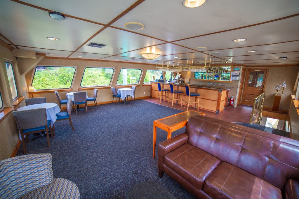Interior of the Crystal Dolphin Yacht